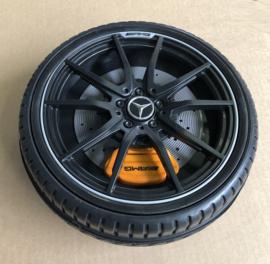 Mercedes SLS (SX-128) plastic wiel met rubber loopvlak