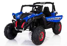 Beach buggy blauw , Mp4 TV, 2 zitter, 12V, 2.4ghz, softstart, 4x4, eva, leder (XMX-603blue )