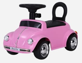 VW Beetle roze, loopauto met multimedia unit, USB, mp3 ( FTF beetle )