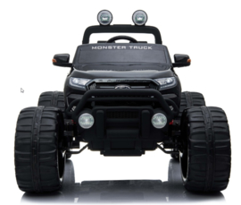 Ford Ranger  Monster Truck zwart metallic, Rubberbanden, 4x4, leder, softstart, bluetooth, 2x12V accu (MT-550zw)