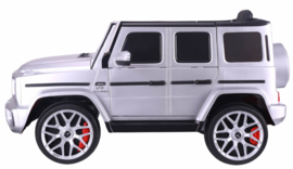 Mercedes-Benz  G63///AMG,  Zilver metallic, FM,leder, BlueTooth,  FULL options (S306zil)