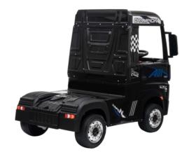 Mercedes Actros, zwart, Wide screen Multimedia, 4WD, FM radio, 2x12V7ah accu, leder, RC (ActrosZW)