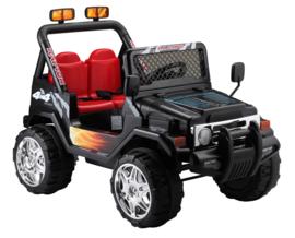 Jeep 12V  1.5 pers met afstandsbediening , zwart  (S618zw)