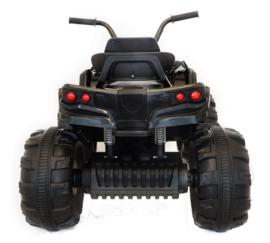 Quad 12v zwart, 2x12V motor, 2.4ghz softstart afstandsbediening + FM radio  (906Dzw)