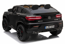 Mercedes-Benz GLC 63S, 2 zitter, metallic zwart, 12V, Mp4 TV, 4wd, leder,eva, 2.4ghz RC (XMX-608zw)