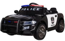 Politieauto, 12V, softstart 2,4ghz RC , leder, incl mobilifoon (JC666)