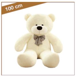 "Knuffelbeer ""Vincent"" 100cm wit - TB-2021V100WT"