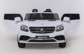 Mercedes GLS63AMG, wit, ruime 2-zitter, echte 4x4, 2x12V7ah accu, nieuw multimedia dashboard, FM radio, Airco(HL228wt)