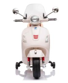 Vespa GTS-S wit + windscherm en beautycase, 12V scooter, leder look zitting, softstart, Multimedia (VespaWT)