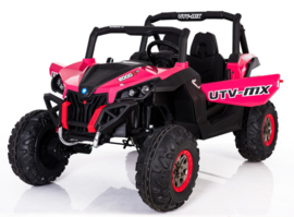Beach buggy roze , Mp4 TV, 2 zitter, 12V, 2.4ghz, softstart, 4x4, eva, leder (XMX-603pk )