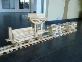 PlayBrix 200st in houten kistje