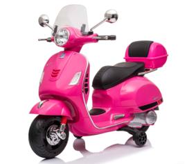 Vespa  GTS-S roze + windscherm en beautycase, 12V scooter, leder look zitting, softstart, Multimedia (VespaPK)