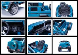 Mercedes MAYBACH G650-S Landaulet metallic blauw, leder, 12V, softstart 2.4ghz RC (MayBblue)