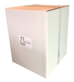 Poly-Ether vlokken voor het opvullen van grote beren. 115ltr/2.5KG doos