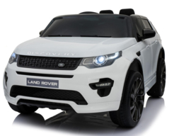 Land Rover Discovery, wit, TV scherm. leder Look, rubberbanden, 2.4ghz rc (DiscoWT)