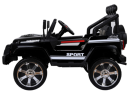 Monster Jeep 4x4 , 4 motors!  2.4ghz, rubberwielen, two tone leder, Blue tooth (S2388zw)