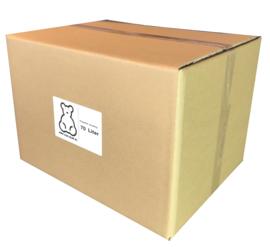 Poly-Ether vlokken voor het  opvullen van grote beren. 70ltr/1.5KG doos
