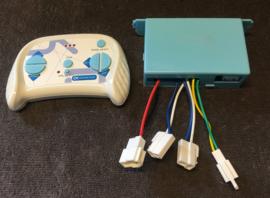 Box + RC, XMX-603, div modellen, 2.4ghz controlbox , SHSB12VJB-3S, blauwe knop, 5 pins inwendige stekker