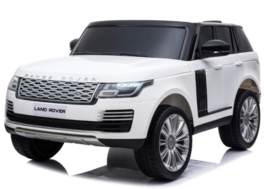 Range Rover Autobiography HSE , Mp4 TV, 2 zitter, wit, BlueTooth, Leder Look, 2.4ghz RC  (RR999wt))