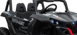 Beach buggy  CARBON zwart, Mp4 TV, 2 zitter, 12V, 2.4ghz, softstart, 4x4, eva, leder (XMX-603zw )