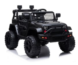 JEEP Mountain King, FM radio, 12V, leder, eva banden, 2.4ghz softstart RC (BDM922)