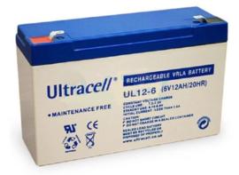Ultracell Accu 6v12ah/20hr geschikt voor diverse voertuigen.