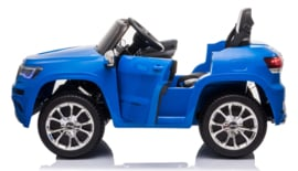 JEEP Grand Cherokee, Metallic blauw, 12V, leder, Eva, (JJ2055blue)