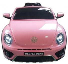VW Dune Beetle roze, 12V , eva, leder, FM radio , Bluethooth, 2.4ghz afstandsbediening ( S303pk)