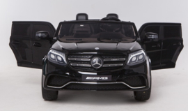 Mercedes GLS63AMG, zwart metallic, Airco ,FM radio, Multimedia dashboard, 2-zitter, echte 4x4, 2x12V7ah (HL228zw)