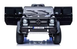Mercedes MAYBACH G650-S Landaulet metallic zwart, leder, 12V, softstart 2.4ghz RC (MayBzw)