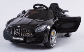 Mercedes GTR , metallic zwart, leder, softstart RC, rubberbanden ( HL288zw)