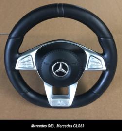 Mercedes-Benz stuur  Luxe , met chrome , S63, HL169, HL228 (GLS63)