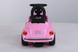 VW Beetle roze, loopauto met multimedia unit, USB, mp3 (JQ618 pk )
