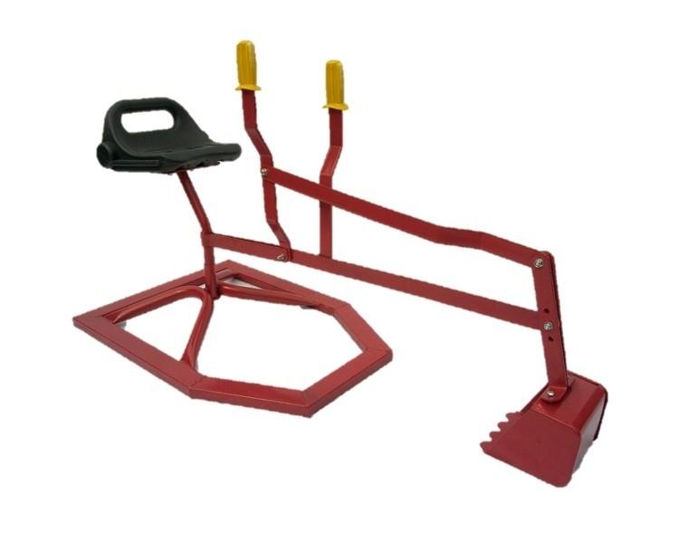 Zandbak kraan, graafmachine  (Rood)
