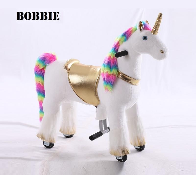 """Kids-Horse """"Bobbie""""  Rainbow UniCorn voor kids van 3-6 jaar.  (TB-2020S)"""
