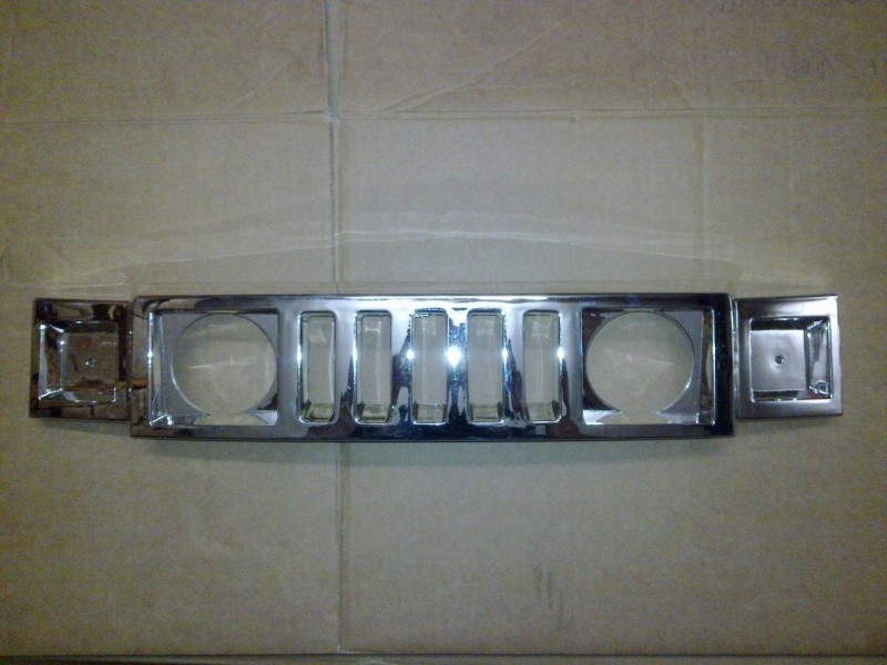 Chrome Grill voor 1 persoons jeep A30