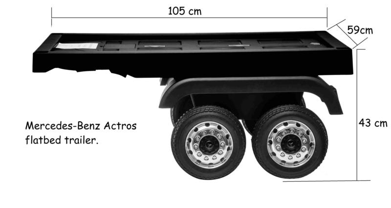 Mercedes Actros  flatbed trailer/oplegger   (ACTrailer)