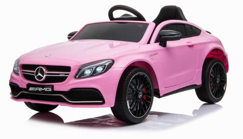 Mercedes C63 S Coupé ///AMG roze , 12V + 2.4GHZ  RC , eva , leder (C63pk)
