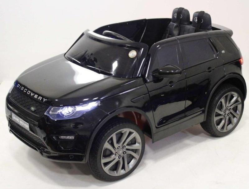 Land Rover Discovery, zwart metallic, TV scherm. leder Look, rubberbanden, 2.4ghz rc (DiscoZW)