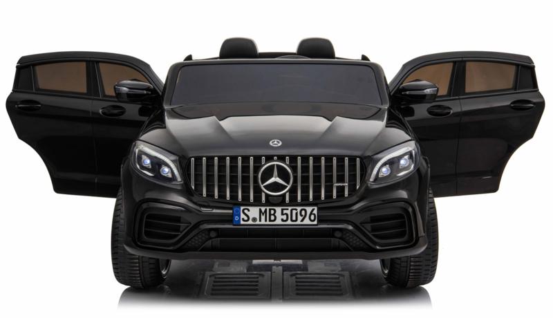 Mercedes-Benz GLC 63S, 2 zitter, metallic zwart, 12V, Mp4 TV, 4wd, leder,eva, 2.4ghz RC (XMX-608zw)