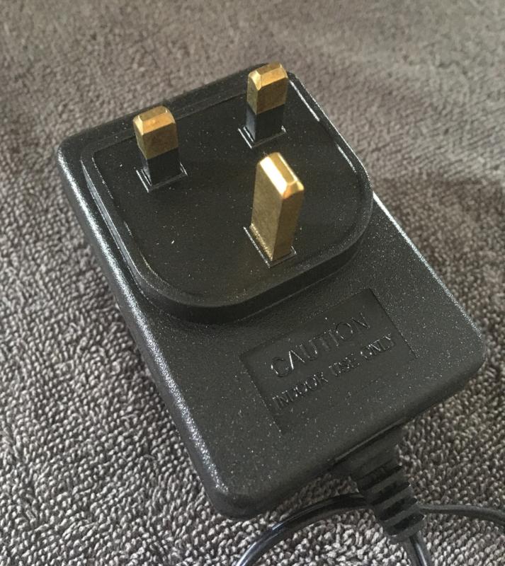 Adapter 12V  round plug UK style charger