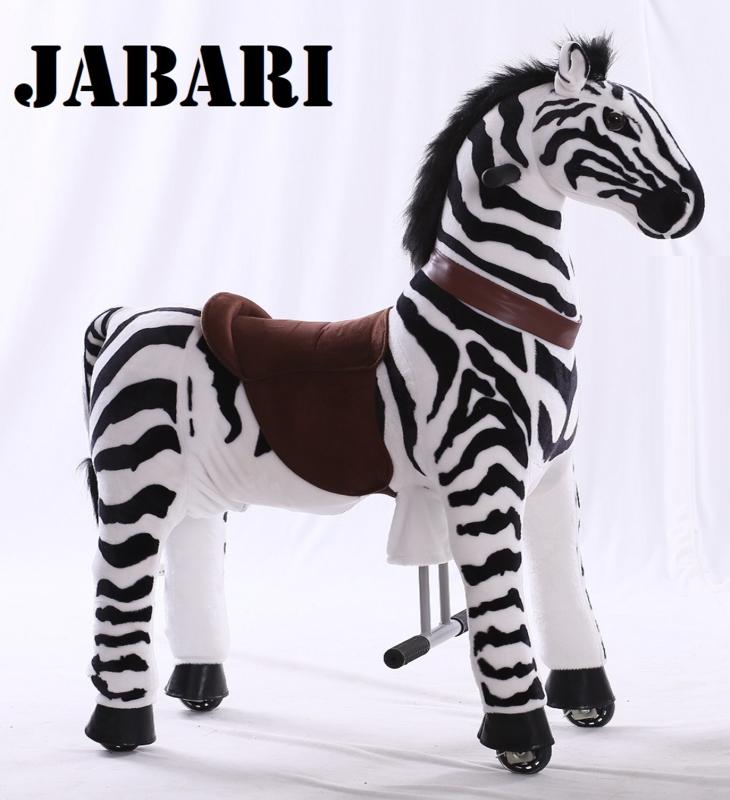 """Kids-Horse """"Jabari""""  zwart/wit gestreept, voor kids van 4-9 jaar.  (TB-2001M)"""