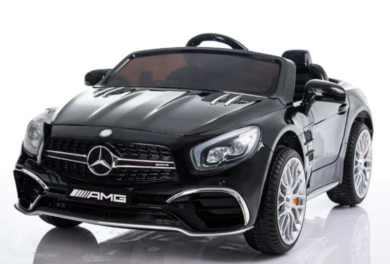 Mercedes-Benz SL65, Mp4 TV metallic zwart, leder, eva, 2.4ghz rc ( XMX-602zw)