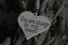 Teksthartje 'You are always....