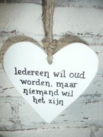 "Houten hart  ""iedereen wil ....."