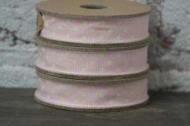 Roze lint met stippen