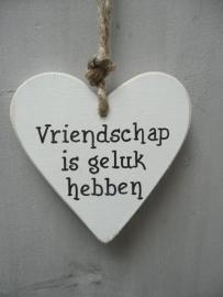 """Houten hart """"Vriendschap....."""