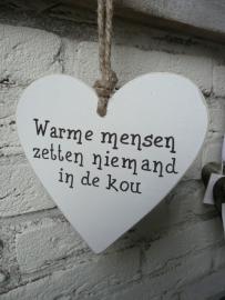 "Houten hart  ""warme mensen....."