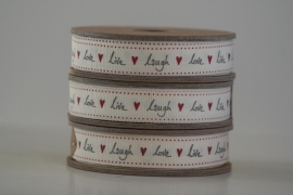 Lint ' live laugh love' rood