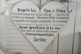"""Houten hart """"Opa & Oma"""""""